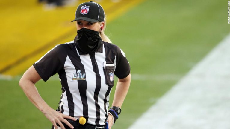 Kicked out of the men's basketball league, Sarah Thomas set her sights on the Super Bowl