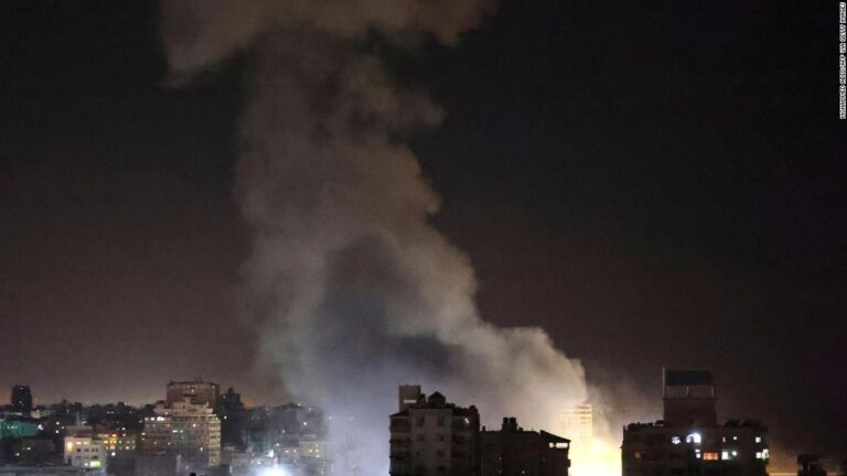 Israeli airstrikes and rocket attacks by Palestinian militants leaves dozens dead as unrest spreads