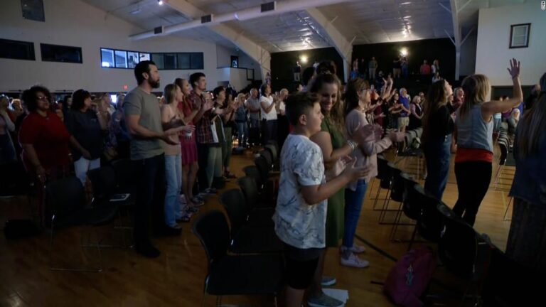 Inside Maine church where most of the congregation is unmasked and unvaccinated