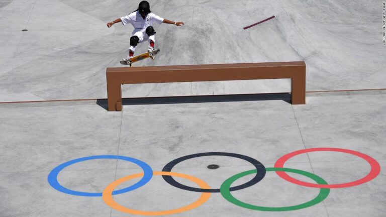 Skateboarder, 13, was urged on to bronze by gold medal winner